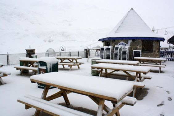 Nevando en panticosa, Huesca - Estacion de Esqui